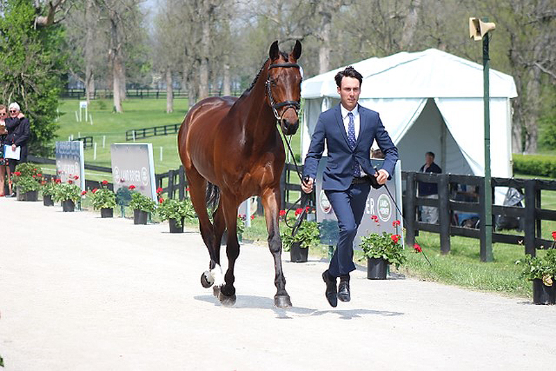 Felix Vogg won best dressed male at the first horse inspection at the Land Rover Kentucky Three-Day Event. Kendall Koberna Photo