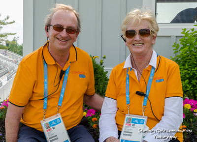 "John ""J.T."" Taylor and his wife, Barbara Mitchell, organized the dressage portion of the 2015 Pan American Games in Toronto. Photo by Starting Gate Communications"