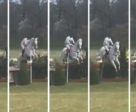 Harry Meade incurred 15 faults at Belton Horse Trials for dislodging the flag even though his horse jumped the obstacle.