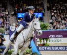 The brilliant grey gelding Catch Me Not lived up to his name when galloping to victory for Sweden's Peder Fredricson in tonight's second competition at the Longines FEI Jumping World Cup™ Final 2019 in Gothenburg (SWE). Photo by FEI/Liz Gregg