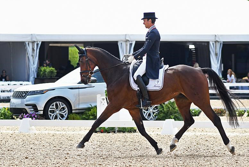 Felix Vogg of Switzerland took an early lead aboard Colero at the 2019 Land Rover Kentucky Three-Day Event presented by MARS EQUESTRIAN. Michelle Dunn Photo