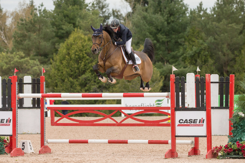 Canadian Olympian Beth Underhill riding Count Me In won the $36,500 CSI2* Open Welcome, presented by RAM Equestrian, and the $72,000 CSI2* Grand Prix, presented by CASE IH, at the CSI2* Caledon National.