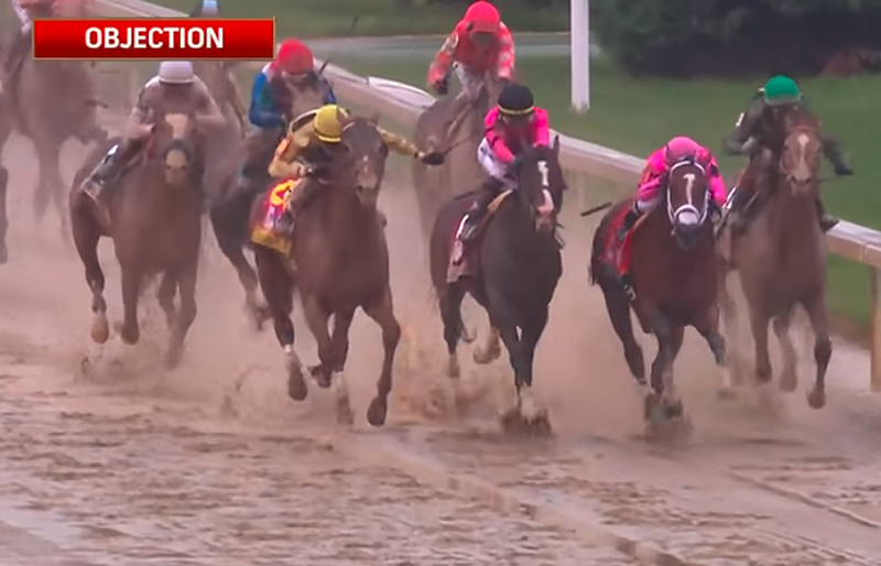 Though Maximum Security crossed the finish line first, he was disqualified and Country House was declared the winner of the Kentucky Derby.