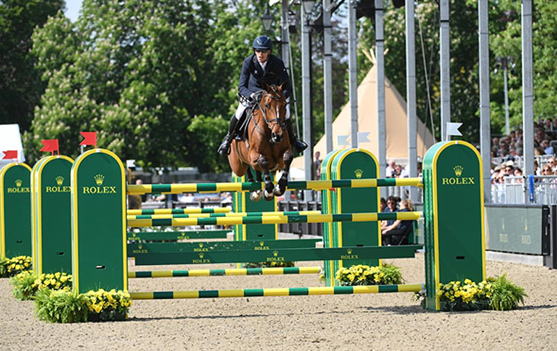 Sweden's Henrik von Eckermann and Toveks Mary Lou won The Rolex Grand Prix at the Royal Windsor Horse Show.