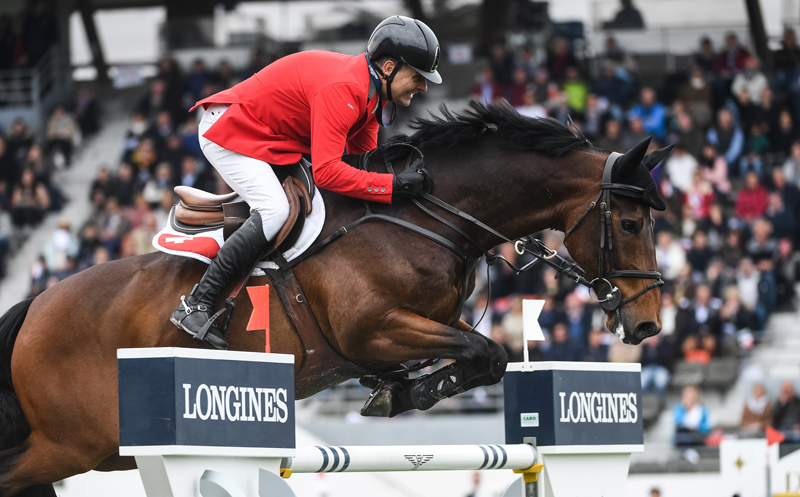 Niklaus Rutschi and Cardano CH produced a brilliant double-clear performance to help clinch victory for Switzerland in today's Longines FEI Jumping Nations Cup™ of France 2019 at La Baule (FRA). Photo by FEI