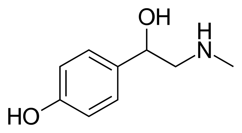 Synephrine is a stimulant which can cause vasoconstriction, an increased heart rate and is used as a weight loss aid.