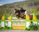 Kennedy Ballard won the Canadian Equestrian Team Medal class with Nite at National Bromont,