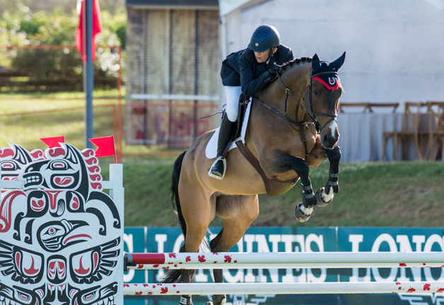 Joe Carruthers and Rialto SM jumped double clear for Canada in the Children's Nations' Cup at the CSIO5* Odlum Brown tournament at Thunderbird Show Park in Langley, BC. Photo by Cara Grimshaw