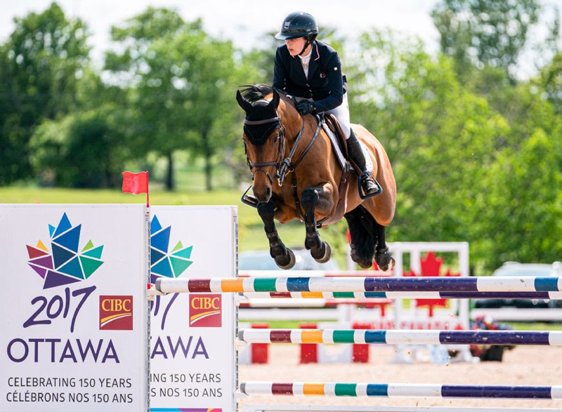 Julia Madigan of Vancouver, BC, and Farfelu du Printemps won the $15,000 Ottawa Welcome Grand Prix on Saturday, June 22, at the Ottawa Welcome Horse Show, held June 19-23 at Wesley Clover Parks in Ottawa, ON.