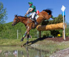 A tough cross-country course with 40 jumping efforts spread out over the hilly terrain of Bromont was no match for Karl Slezak and Fernhill Wishes at the Bromont Three-Day Event. Photo by Cealy Tetley