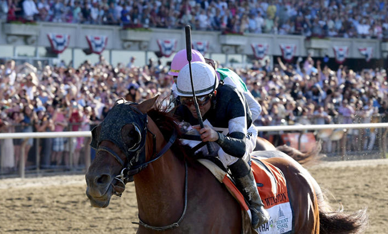 Sir Winston won the 151st running of the Belmont Stakes, for Canadian trainer Mark Casse. Joe Labozzetta Photo
