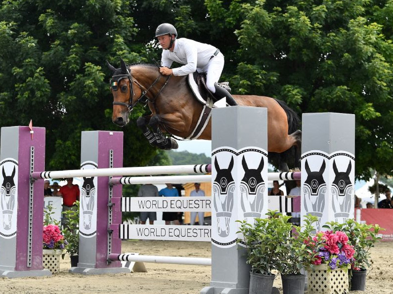 Kevin McCarthy won the $30,000 Otter Creek Grand Prix, presented by Purina Horse Feed, riding Catch A Star HSS at the Vermont Summer Festival on Saturday, July 20, in East Dorset, VT.