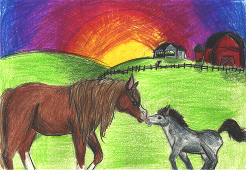Thumbnail for 2019 Horse Day Kids Drawing Contest Winners
