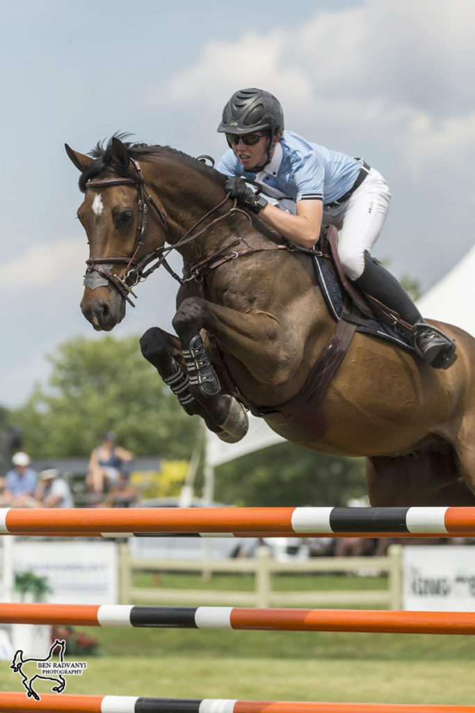 Sam Walker riding Carlitzek N won the $10,000 Under 25 Grand Prix, presented by MarBill Hill Farm, for the second year in a row on Friday, July 19, at the CSI3* Ottawa International II at Wesley Clover Parks in Ottawa, ON.