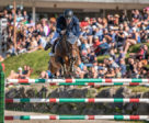 Daniel Coyle took first and second in the CSI3* Grand Prix aboard Cita and Farrel, at the International Bromont. Photo by Tom von Kap-herr