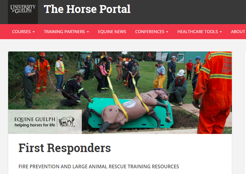 Fire Prevention, Large Animal Rescue Training for First Responders