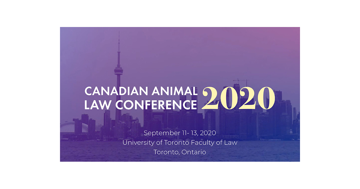 Save the Date for the Canadian Animal Law Conference