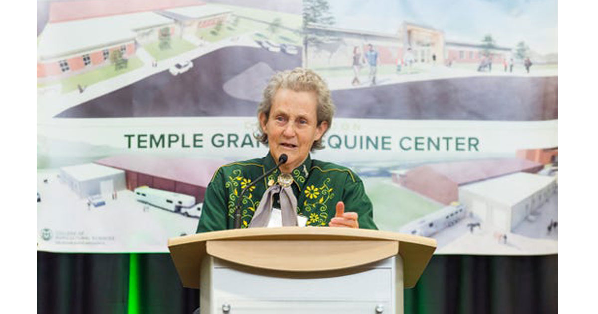 Colorado State U. breaks ground on Temple Grandin Equine Center
