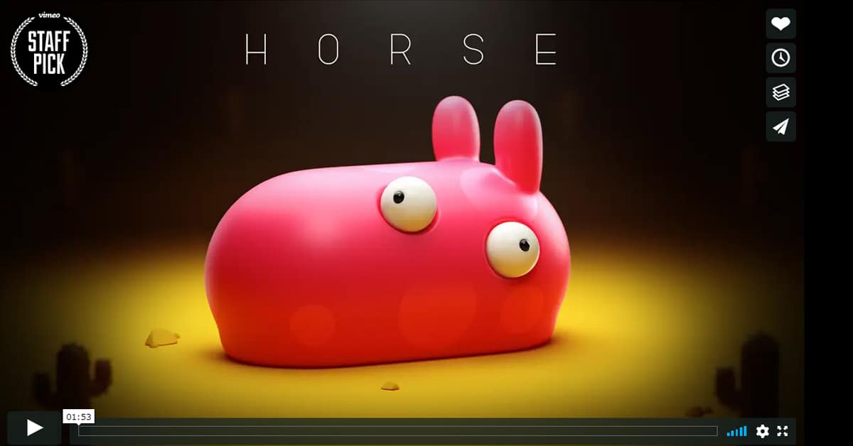 "Thumbnail for Strange but Fascinating: Check out the animated short ""Horse"""