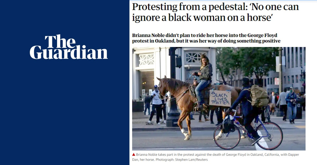 Thumbnail for Urban Cowgirl Rides Alongside Protesters in California