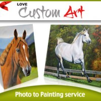 Professional Bespoke Photo to Painting Service