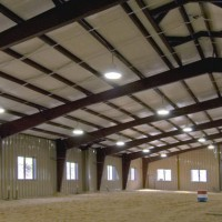 INDOOR RIDING ARENA  ALL STEEL BUILDING