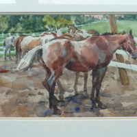 Painting of Horses by Bill Rogers