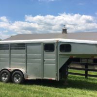 For Sale: Two-Horse Gooseneck Trailer