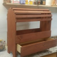 Solid Pine Saddle Rack c/w Drawer